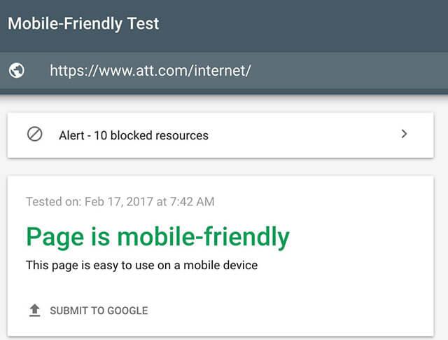 ابزار آنالیز گوگل برای نسخه موبایل Google Mobile Friendly Testing tools